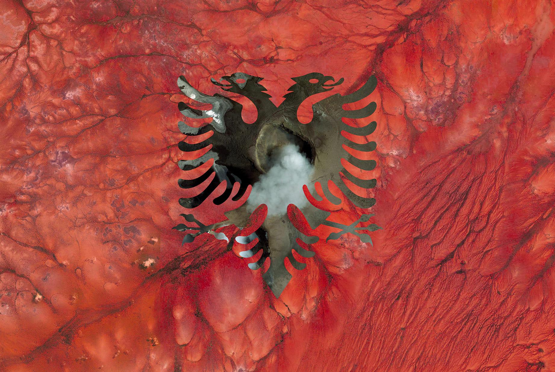Albania Earth Flag (Ethiopia, Italy), 2016, cm 67×100, 1/9