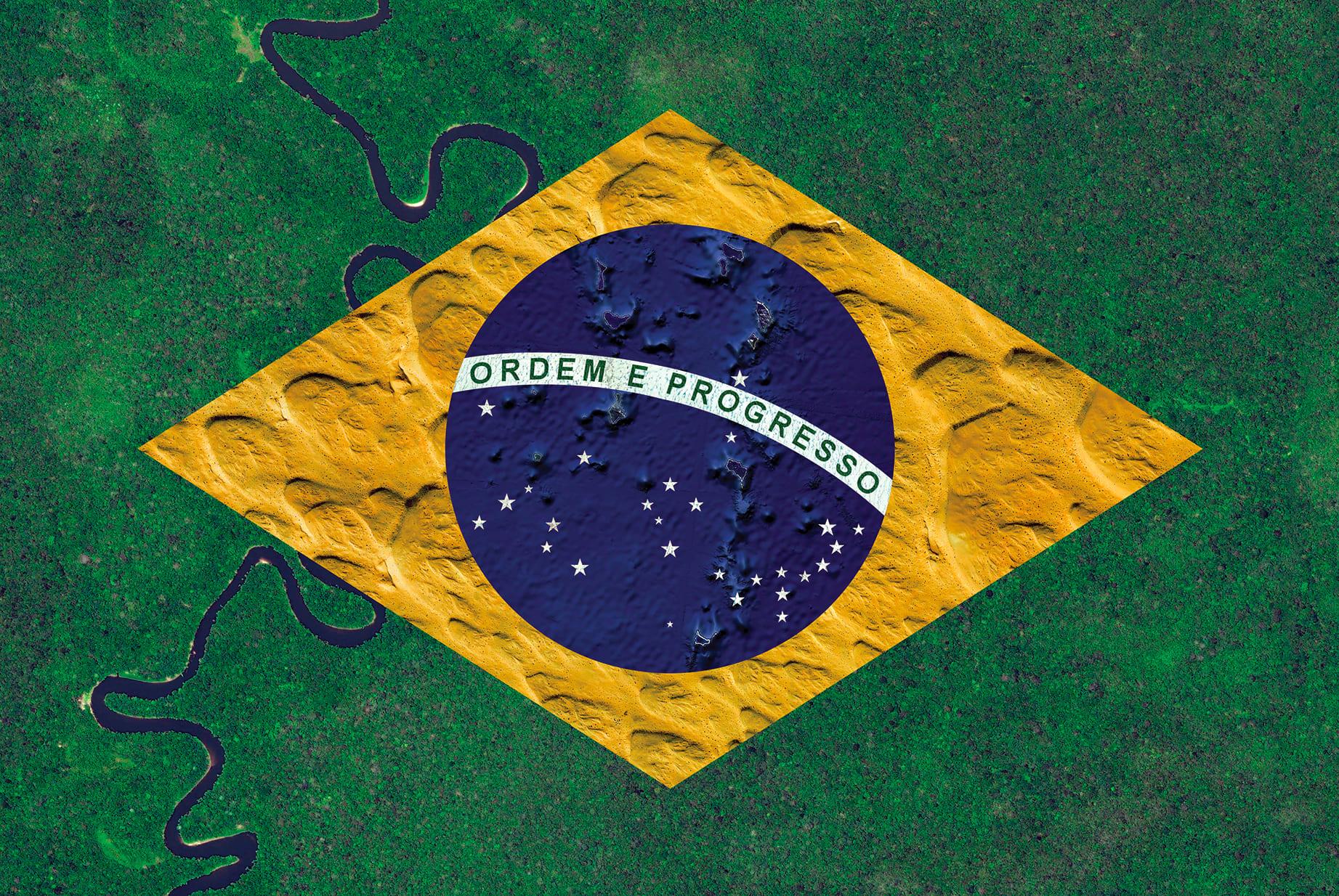 Brazil Earth Flag (Indonesia, Saudi Arabia, Oceania, Greenland), 2016, cm 67×100, 1/9