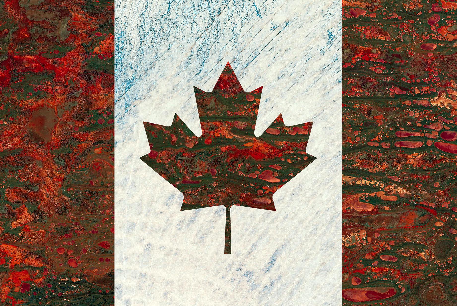 Canada Earth Flag (Australia, Greenland), 2017, cm 67×100, 1/9