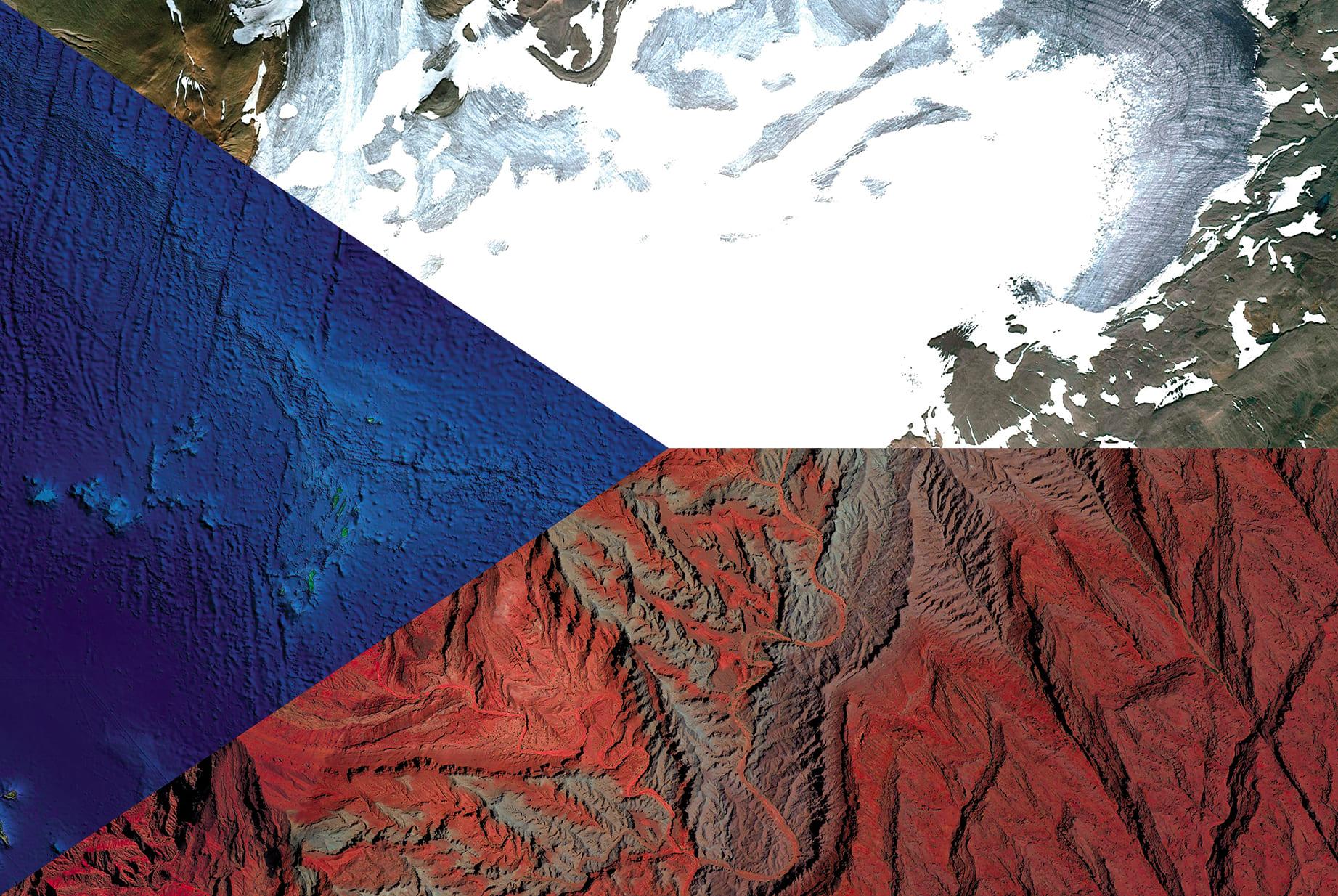 Czech Republic Earth Flag (Iceland, Atlantic Ocean, Argentina), 2016, cm 67×100, 1/9