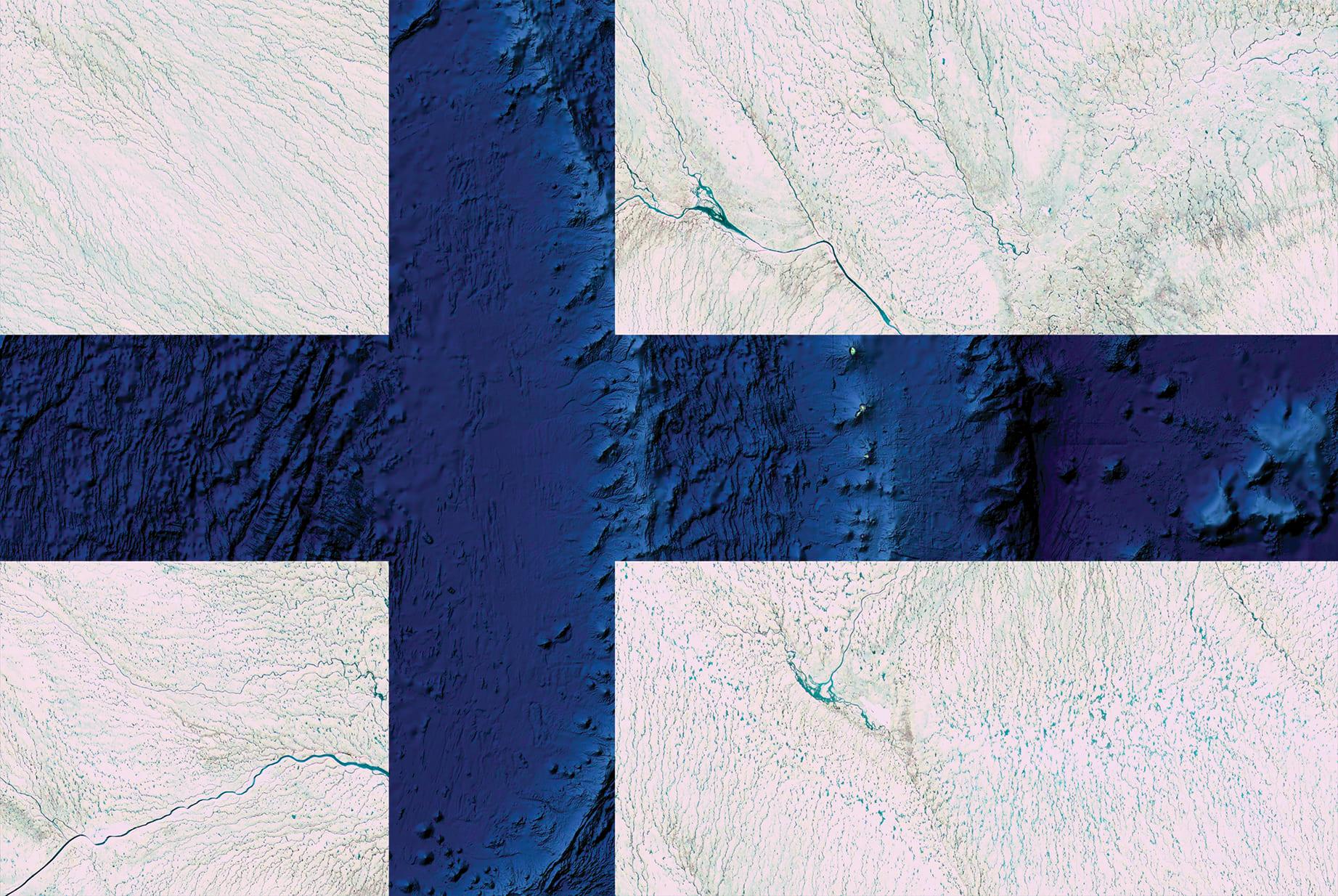 Finland Earth Flag (Greenland, Oceania), 2016, cm 67×100, 1/9