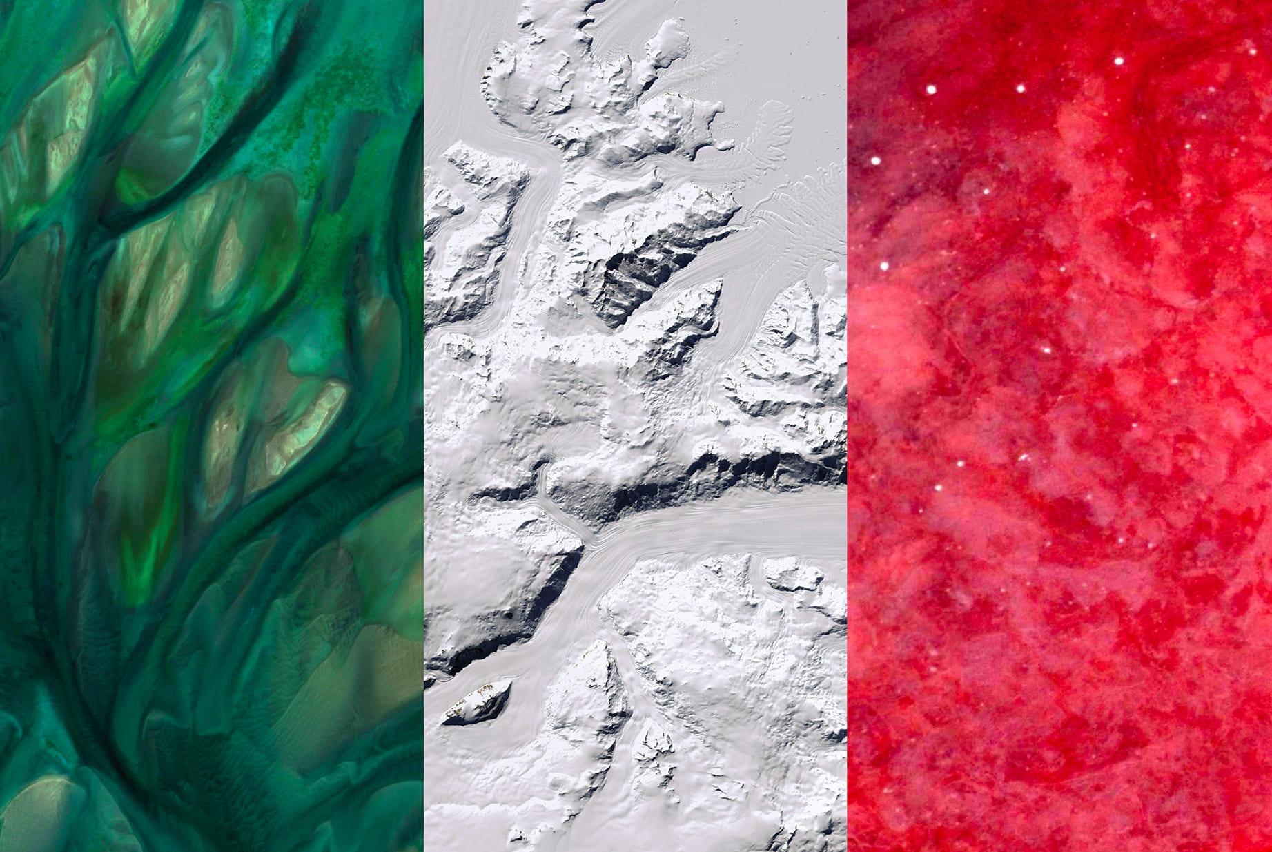 Italy Earth Flag (Qatar, Antarctica, Namibia), 2016, cm 67×100, 1/9