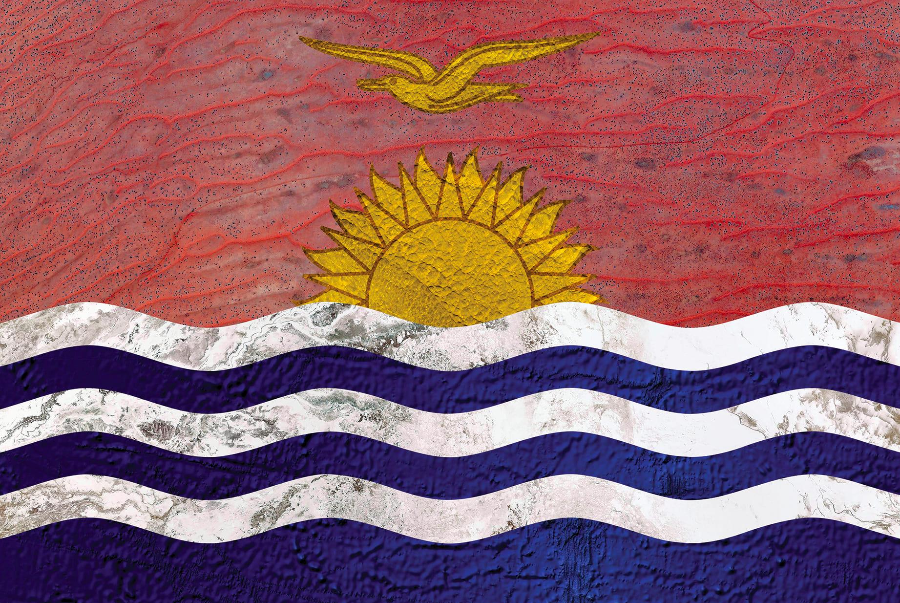 Kiribati Earth Flag (Australia, Kazakhstan, Bolivia, Atlantic Ocean), 2016, cm 67×100, 1/9