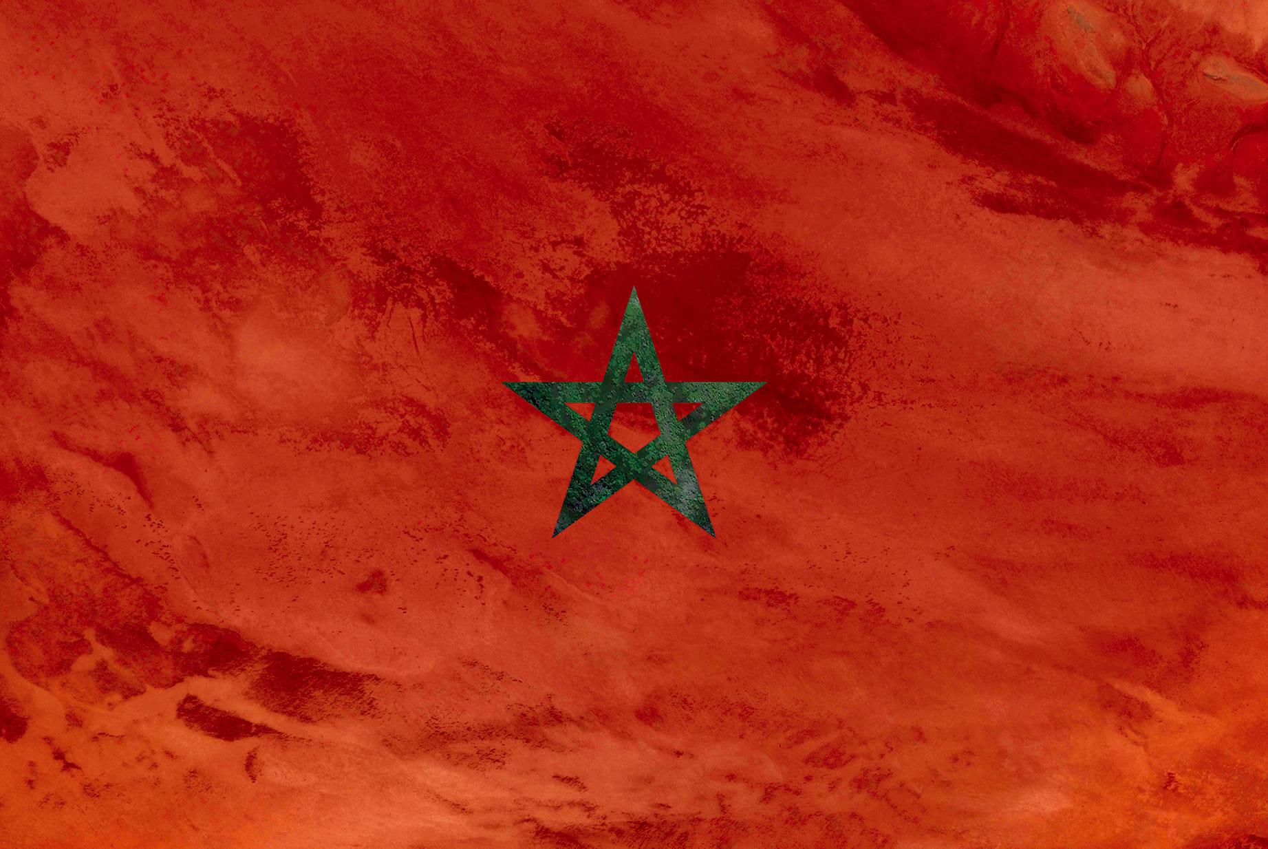 Marocco Earth Flag (Qatar, Australia), 2017, cm 67×100, 1/9
