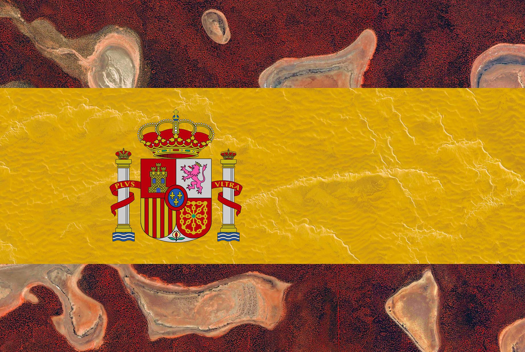 Spain Earth Flag (Australia, Libya), 2016, cm 67×100, 1/9
