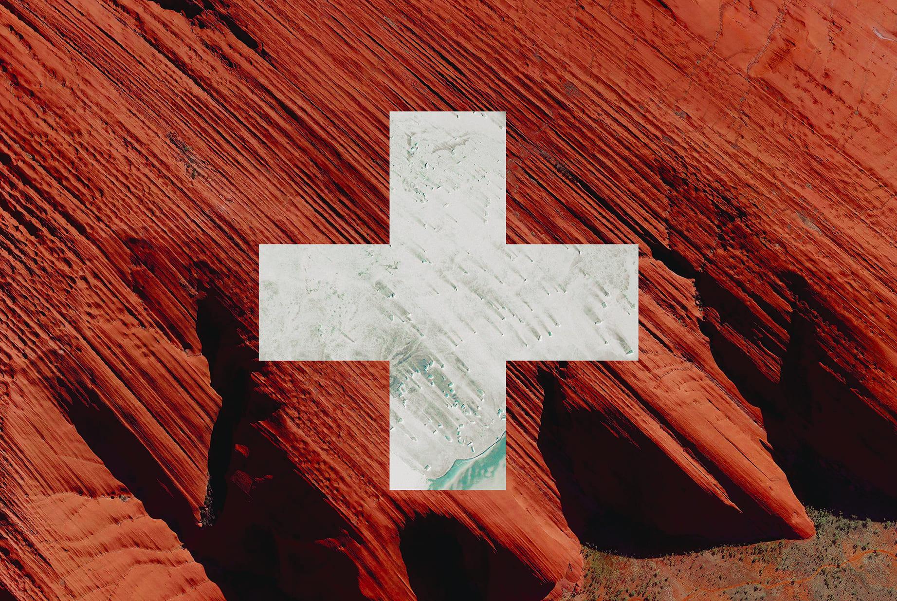 Swiss Earth Flag (Australia, Antarctica), 2016, cm 67×100, 1/9