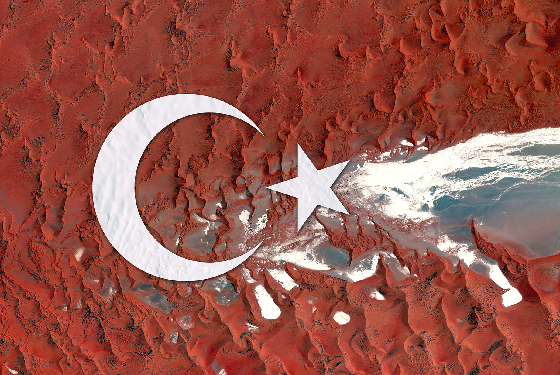 Turkey Earth Flag (Namibia, Antarctica), 2016, cm 67×100, 1/9